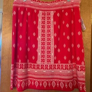 Red and white skirt XL.  Women's plus.  NWT